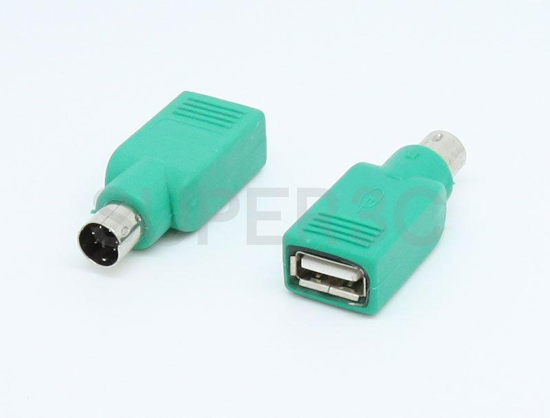 新竹【超人3C】USB 轉 PS2 鍵盤 滑鼠 轉接成 USB介面 PS2公 USB母 0000373@3E4