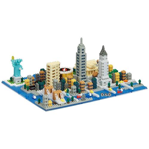 Nano Block迷你積木世界主題建築系列NB-033紐約城市JOYBUS玩具百貨