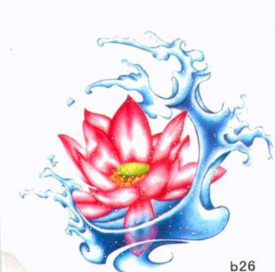 薇嘉雅 玫瑰花 超炫圖案紋身貼紙 b26