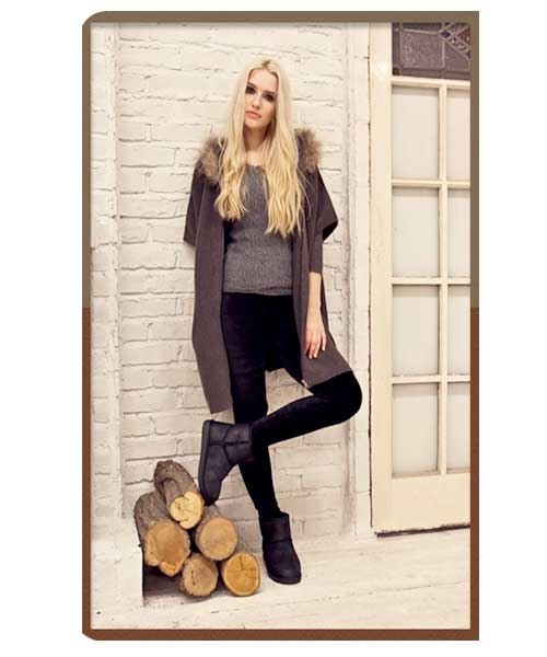 正韓Ollie Mustang Boots爆裂紋防水低筒內增高雪靴3cm鞋墊保暖女靴7色