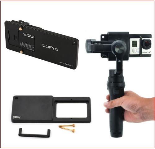 sj4000 Smooth 2 GoPro hero 3 4 Feiyu SPG g4 plus GOPro3 GOPro4飛宇固定板手機穩定器轉接夾轉接板
