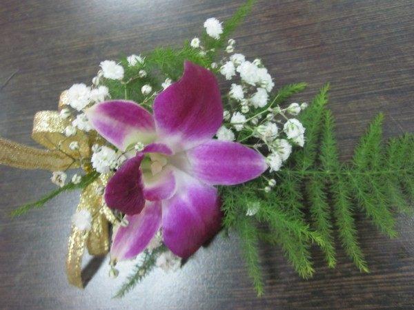(YD-185)婚禮會場必備婚禮小物~婚禮&活動&貴賓用胸花(石斛蘭)每組50元~