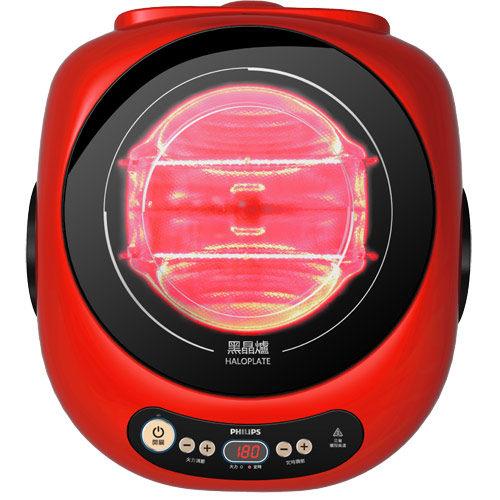 飛利浦黑晶爐(活力紅)HD4989 以光導熱,不挑鍋《刷卡分期 免運費 》