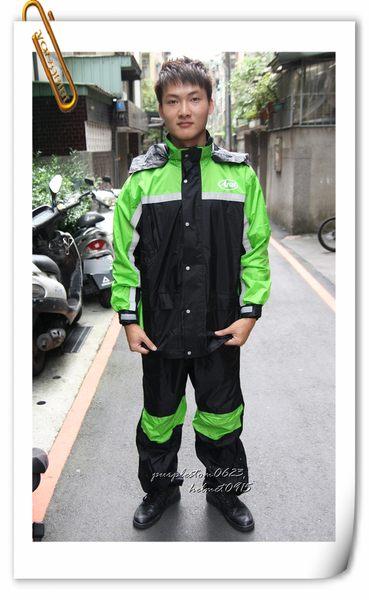 林森●ARAI多功能套裝雨衣,兩件式,K8,含簡易式鞋套,黑綠