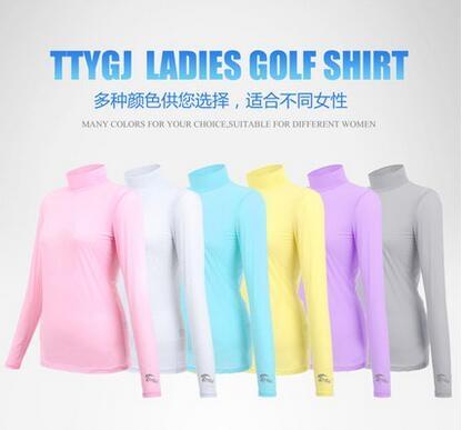 設計師美術精品館正品高爾夫球服裝女士長袖T卹功能內衣冰絲防曬打底衫