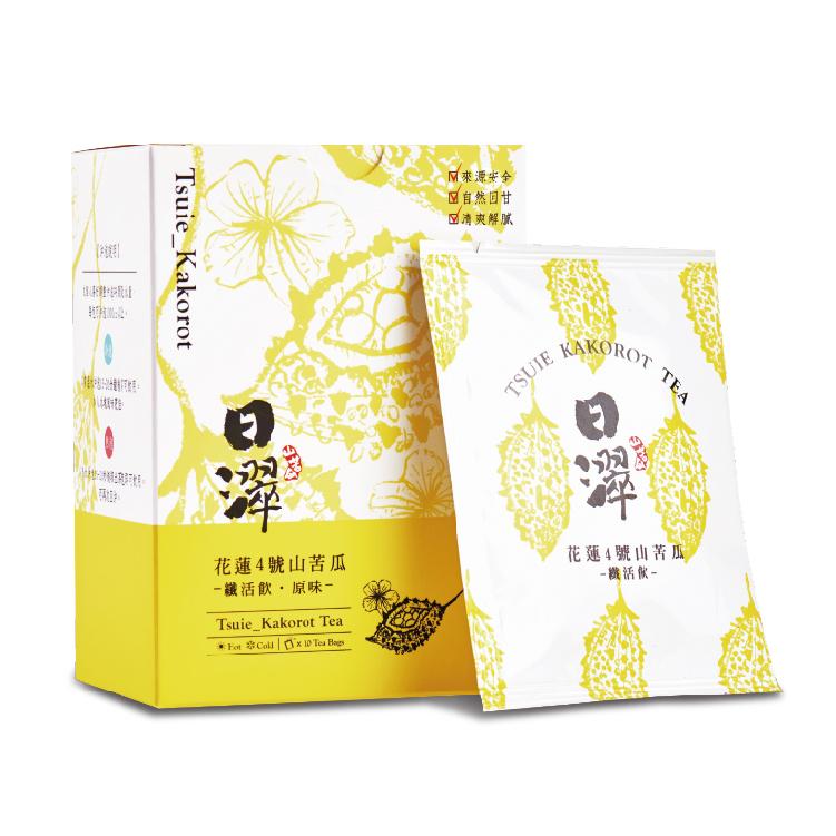 【日濢Tsuie】花蓮4號山苦瓜茶 纖活飲原味(10包/盒)