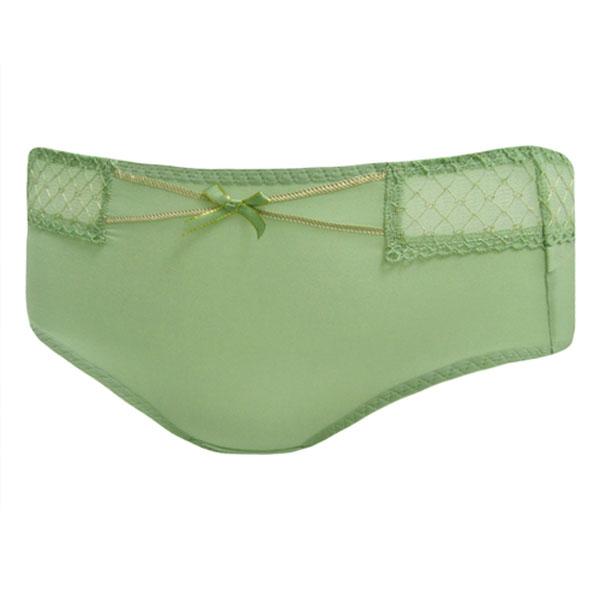 曼黛瑪璉-F64036-1 V極線-佔上峰中腰寬邊三角萊克褲(炊煙綠)(未購滿3件恕無法出貨,退貨需整筆退)