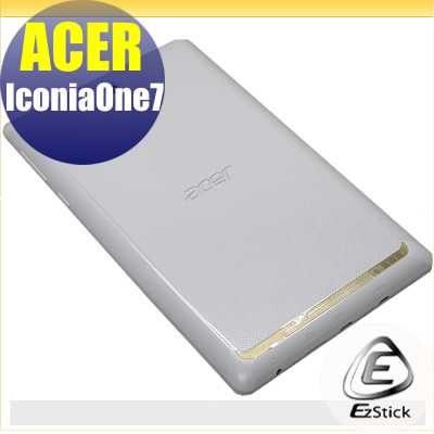 EZstick ACER ICONIA ONE 7 7吋TD070VA1系列專用二代透氣機身保護貼平板機身背貼DIY包膜