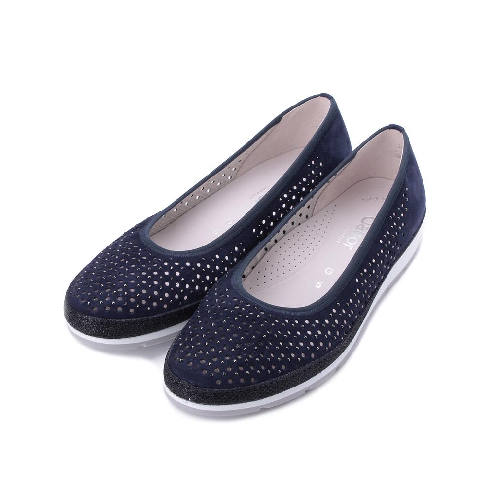 德國 GABOR 小圓鉚釘休閒洞洞鞋 深藍 22.401.16 女鞋