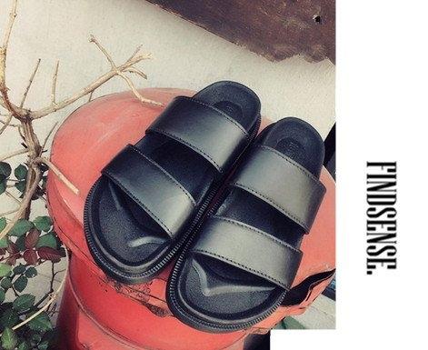 找到自己增高厚底涼鞋3CM羅馬鞋真皮鞋厚底羅馬鞋夾腳拖涼鞋海灘鞋潮流穿搭REMIX