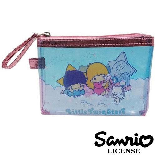 日本進口正版雙子星KIKILALA三麗鷗人物防潑水小型收納包收納袋卡片包零錢包428433