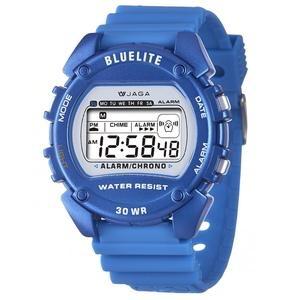 捷卡 JAGA 電子錶 防水手錶 冷光照明  學生錶/兒童手錶/男童/男錶 M175-E 藍