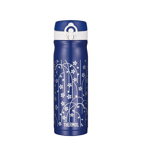 THERMOS膳魔師不鏽鋼真空保溫瓶500ml-櫻花藍JMY-502JS-BL