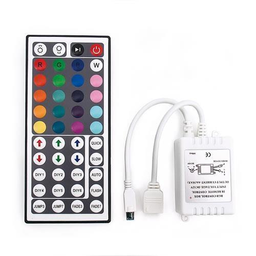 RGB燈條控制器44鍵遙控器共陽6A