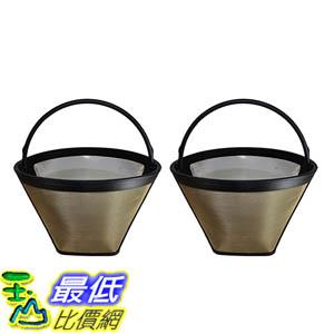 [106美國直購] 2 Coffee Filters # 4 Cone, Black & Decker, Braun, Cuisinart, GE, Hamilton Beach, Krups