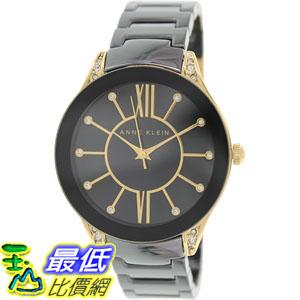 105美國直購Anne Klein Women s女士手錶AK-1672BKGB Black Ceramic Quartz Watch