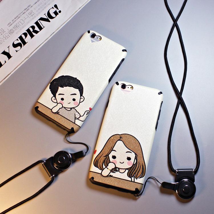 iphone 6 plus手機殼iphone 6s手機套iphone 6手機保護殼蘋果6S Plus同桌的妳情侶款磨砂軟殼送掛繩潮