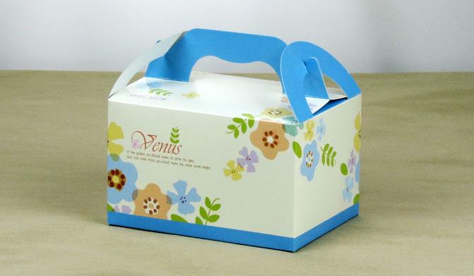 白色小花 手提餐盒(小) 外帶提盒 野餐盒 麵包盒 餅乾紙盒 禮品包裝