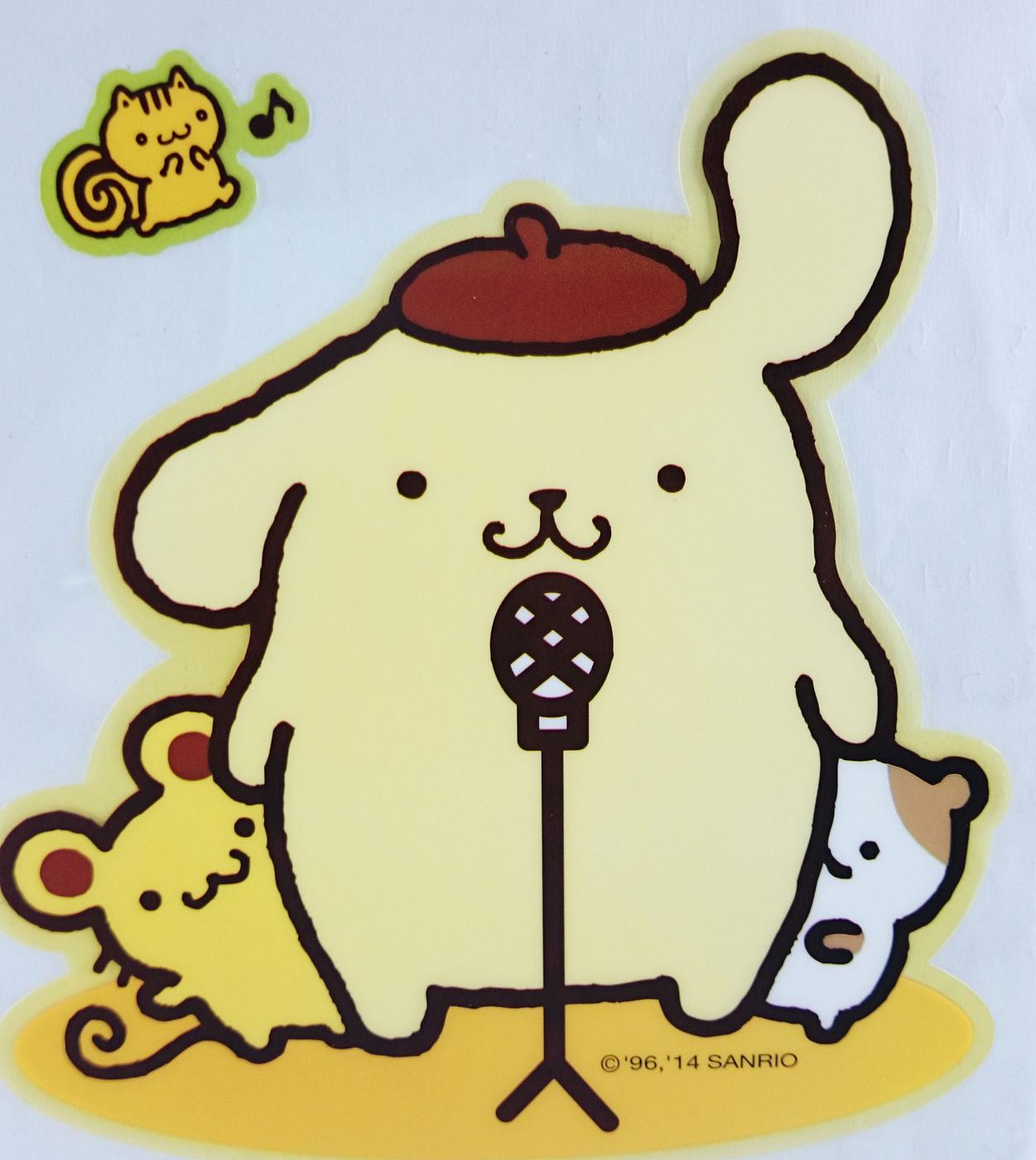 【震撼精品百貨】Pom Pom Purin 布丁狗~貼紙_唱歌
