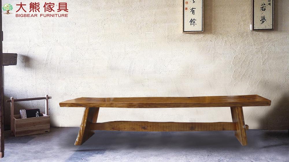 【大熊傢俱】 原木椅 餐椅餐 長板凳 實木椅 原木凳 休閒椅 穿鞋椅 原木長凳 玄關椅 閱讀椅