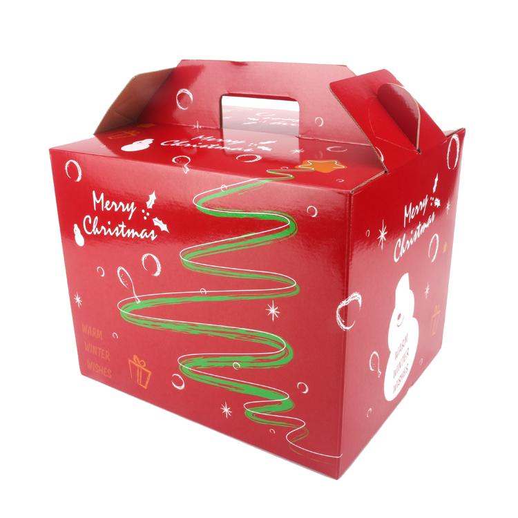 2016新年款經典紅綠聖誕趴手提聖誕歡樂盒20入組火雞烤雞外帶盒禮物盒布偶大紙盒手提盒