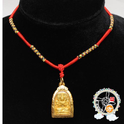 四臂觀音佛牌五色線項鍊A十方佛教文物