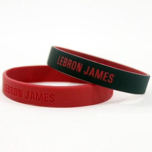 NBA官方授權正版 運動矽膠手環 (小號)- 邁阿密熱火 小皇帝 雷霸龍詹姆士 Lebron James