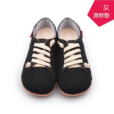 A MOUR經典手工鞋特色饅頭點黑氣墊鞋平底嚴選布料超軟饅頭鞋DH-2718