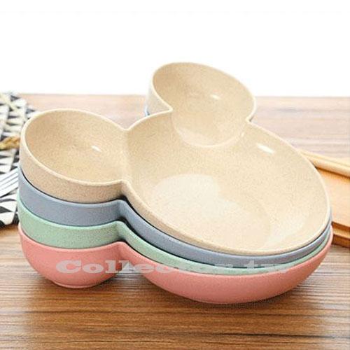 N17030901小麥秸稈兒童餐盤小兔子卡通快餐盤餃子盤分格餐具輔食餐具