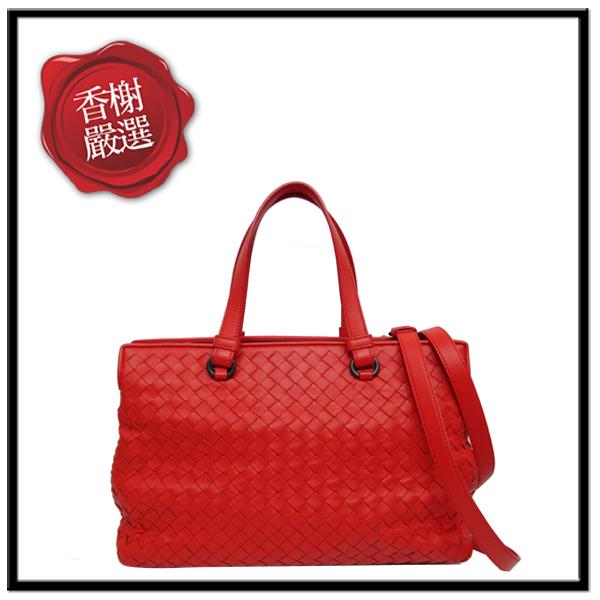 BV編織方形分層兩用包紅色部落客推薦簡約大方二手商品
