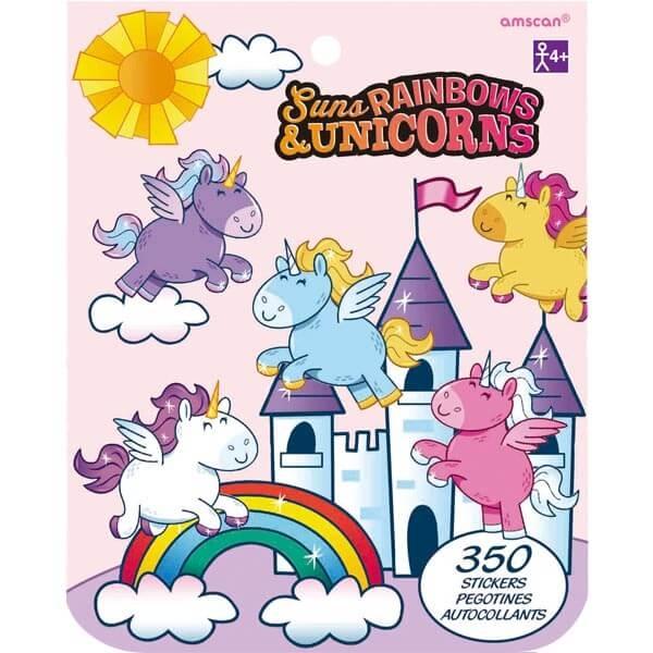 貼紙本350小張-彩虹獨角獸