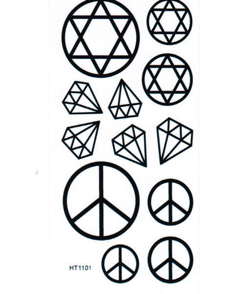 薇嘉雅      超炫圖案紋身貼紙 HT1101