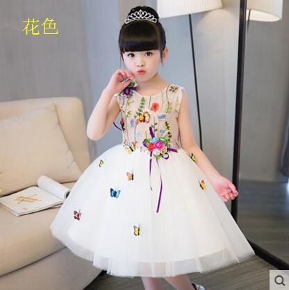 熊孩子花童禮服公主蓬蓬裙花色