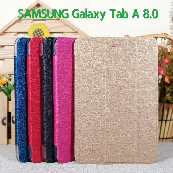 超薄三折三星SAMSUNG Galaxy Tab A 8.0 P350 P355專用平板側掀皮套翻頁式平板保護套保護殼