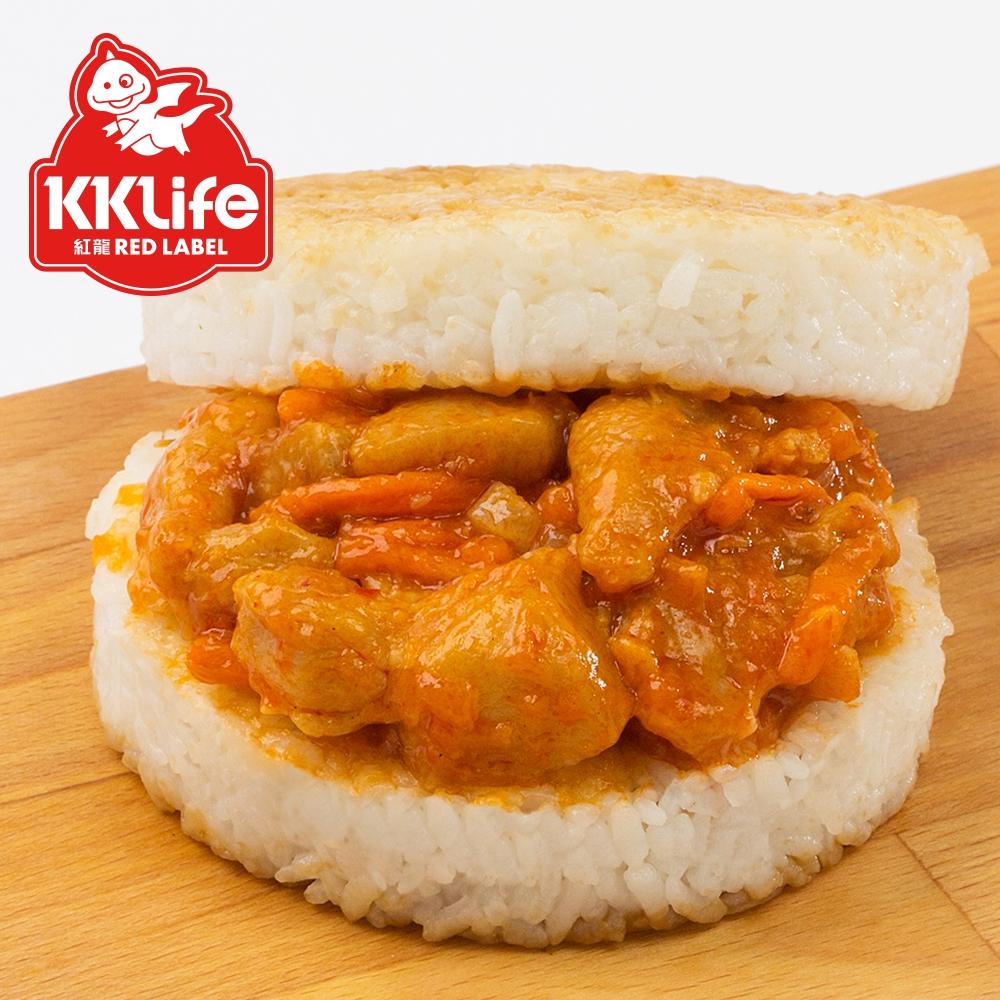 【紅龍】醇厚干燒蝦仁米漢堡 (170g/顆)