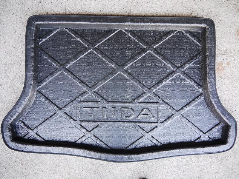 第二代日產06-12年TIIDA五門專用小T專用防水托盤防水後廂墊後廂托盤防水盤