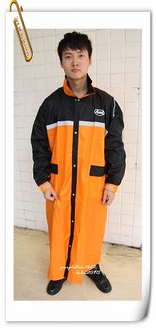 ARAI雨衣,W022,橘黑