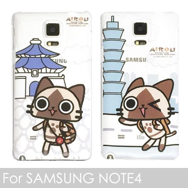 里和Riho三星SAMSUNG NOTE4專用日本艾路貓AIROU透明手機殼魔物獵人台灣限定版狸貓