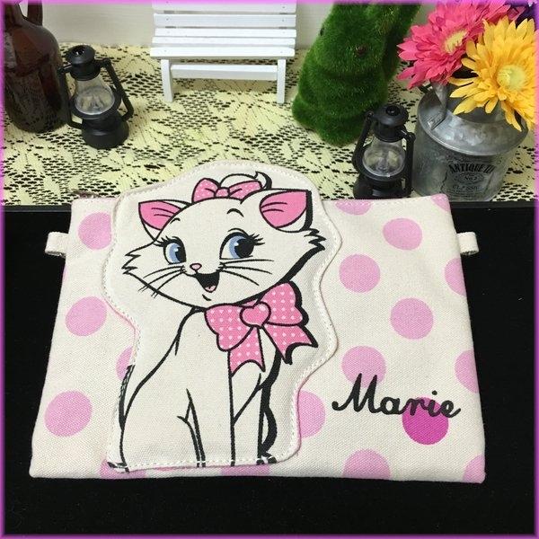 迪士尼瑪麗貓帆布小斜背包側背包立體造型收納包情人節現貨生日禮物