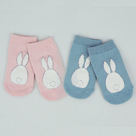 韓國童襪嬰兒襪HAPPY PRINCE小兔尾巴造型嬰兒襪Boby Tail Socks粉紅藍綠