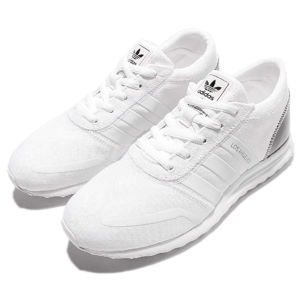adidas 休閒鞋 Los Angeles W 白 黑 亮皮 三葉草 運動鞋 女鞋【PUMP306】 S79765