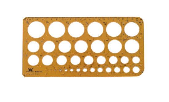 徠福 射出成型定規(凸點鉛筆、針筆兩用) KL-101 / 片
