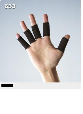 宏海護具專家護具護指LP 653加長型指關節護套護指套黑色5個1組運動防護運動護具