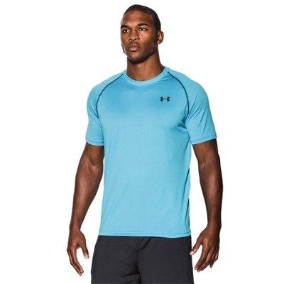 男子UA Tech短袖T恤水藍色
