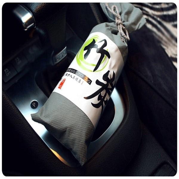 100g竹炭包車用空氣淨化除味包居家衣櫃除濕防霉除煙味活性碳冰箱除臭包