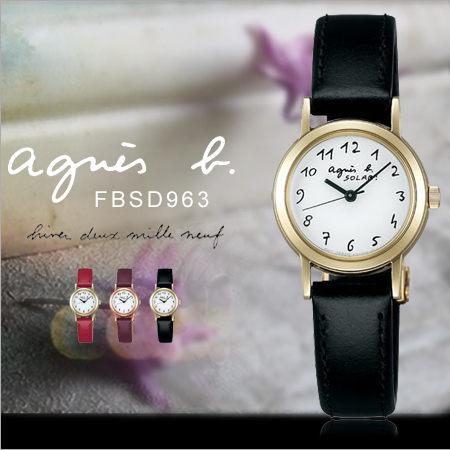 法國簡約雅痞agnes b.時尚女錶24mm設計師款GB防水太陽能FBSD963現貨排單熱賣中