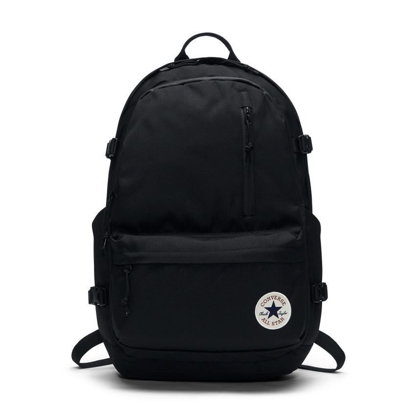 CONVERSE-黑色雙肩後背包-NO.10007784-A01