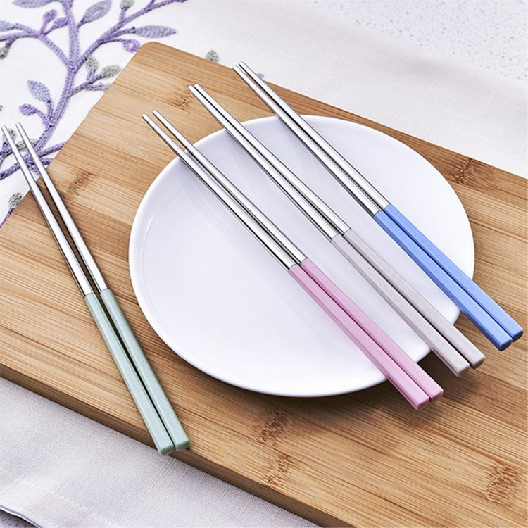 【00013】 小麥桿環保系列餐具 不鏽鋼筷子 兒童筷 無毒