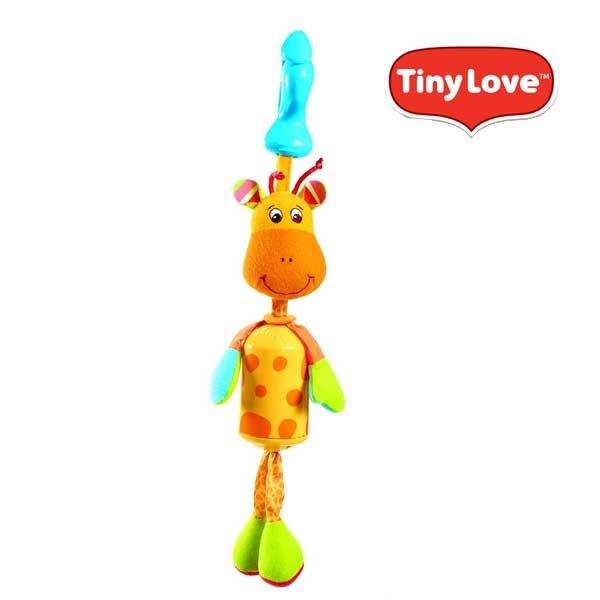 美國 Tiny Love 夾偶-長頸鹿風鈴/音樂鈴/推車汽座玩具