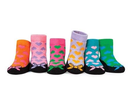Trumpette襪子彌月禮彩色心型圖案女童短襪附原廠紙盒包裝盒
